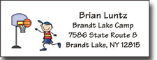 Pen At Hand Stick Figures - Address Label (Label2- Full Color - Tech Bold)