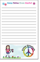 Pen At Hand Stick Figures - Camp Note Pads (Peace - Full Color)