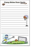 Pen At Hand Stick Figures - Camp Note Pads (Sport - Boy - Full Color)