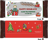 Candy Wrappers by Pen At Hand Stick Figures (Xmas Boy)