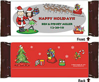 Candy Wrappers by Pen At Hand Stick Figures (Xmas Couple)
