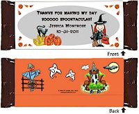 Pen At Hand Stick Figure Candy Wrappers - Halloween (Girl)