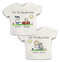 Pen At Hand Stick Figures - Big Brother/Big SisterTee Shirts
