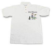 Pen At Hand Stick Figures - Golf Shirt