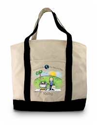Pen At Hand Stick Figures - Grocery Tote (Grocery Tote 1)