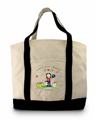 Pen At Hand Stick Figures - Grocery Tote (Grocery Tote 2)