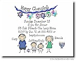 Pen At Hand Stick Figures - Invitations - Chanukah #3 (FC)