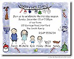 Pen At Hand Stick Figures - Invitations - Mixed #4 (Holiday)