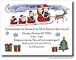 Pen At Hand Stick Figures - Invitations - Xmas #4 (Holiday, color)