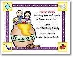 Pen At Hand Stick Figures - Jewish New Year Card - JNY21FC