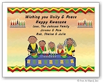 Pen At Hand Stick Figures - Full Color Holiday Cards - Kwanzaa-1