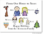 Pen At Hand Stick Figures - Full Color Holiday Cards - Mixed1