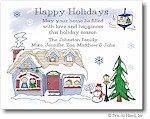 Pen At Hand Stick Figures - Full Color Holiday Cards - Mixed6