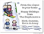Pen At Hand Stick Figures - Full Color Holiday Cards - Mixed8