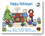 Pen At Hand Stick Figures - Full Color Holiday Cards - Mixed9