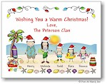 Pen At Hand Stick Figures - Full Color Holiday Cards - Xmas-Tropical2