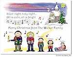 Pen At Hand Stick Figures - Full Color Holiday Cards - Xmas12