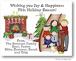 Pen At Hand Stick Figures - Full Color Holiday Cards - Xmas13