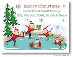 Pen At Hand Stick Figures - Full Color Holiday Cards - Xmas14