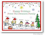 Pen At Hand Stick Figures - Full Color Holiday Cards - Xmas15