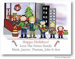 Pen At Hand Stick Figures - Full Color Holiday Cards - Xmas16