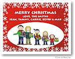Pen At Hand Stick Figures - Full Color Holiday Cards - Xmas17