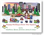 Pen At Hand Stick Figures - Full Color Holiday Cards - Xmas18