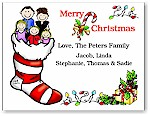 Pen At Hand Stick Figures - Full Color Holiday Cards - Xmas20