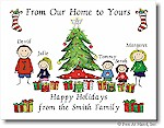 Pen At Hand Stick Figures - Full Color Holiday Cards - Xmas6