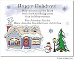 Pen At Hand Stick Figures - Full Color Holiday Cards - Xmas8