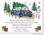 Pen At Hand Stick Figures - Full Color Holiday Cards - Xmas9