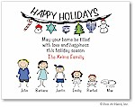 Pen At Hand Stick Figures - Full Color Holiday Cards - Mixed2FC