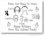 Pen At Hand Stick Figures - Full Color Holiday Cards - Xmas1