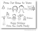 Pen At Hand Stick Figures - Full Color Holiday Cards - Xmas2