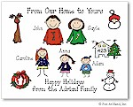 Pen At Hand Stick Figures - Full Color Holiday Cards - Xmas1FC