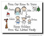 Pen At Hand Stick Figures - Full Color Holiday Cards - Xmas2FC
