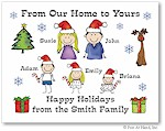 Pen At Hand Stick Figures - Full Color Holiday Cards - Xmas3FC