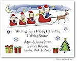 Pen At Hand Stick Figures - Full Color Holiday Cards - Xmas4FC