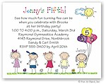 Pen At Hand Stick Figures - Invitations - Birthday Line