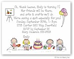 Pen At Hand Stick Figures - Invitations - Arts & Crafts (color)