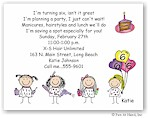 Pen At Hand Stick Figures - Invitations - Beauty Party (color)