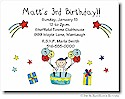 Pen At Hand Stick Figures - Invitations - Birthday Cake