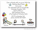 Pen At Hand Stick Figures - Invitations - Gymboree