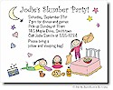 Pen At Hand Stick Figures - Invitations - Slumber Party