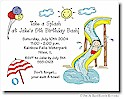 Pen At Hand Stick Figures - Invitations - Waterpark