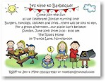 Pen At Hand Stick Figures - Invitations - Barbecue 3