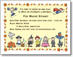 Pen At Hand Stick Figures - Invitations - Halloween (Inv 1054 G)