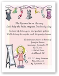 Pen At Hand Stick Figures Invitations - Bachelorette
