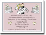 Pen At Hand Stick Figures Invitations - Wed Couple Shower