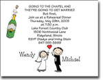 Pen At Hand Stick Figures - Invitations - Wedding